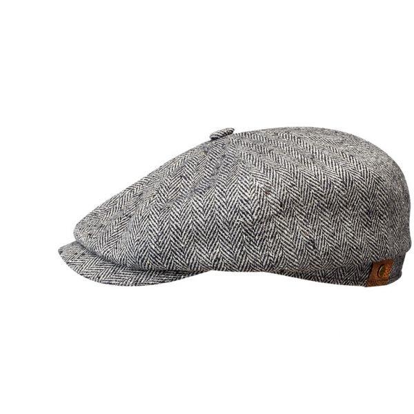 Casquette Stetson Hatterras en soie gris noir