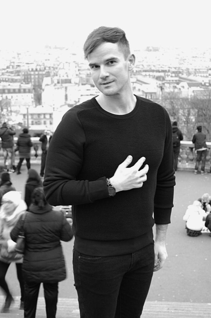 paris street style, black & white, fashionisto, sacre coeur