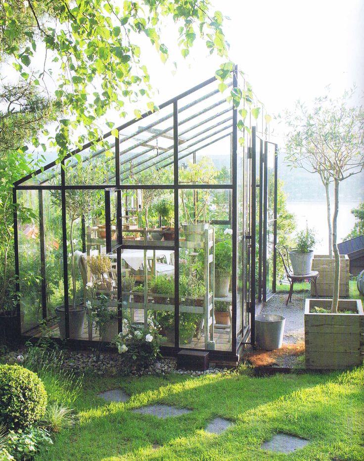 Sveiset drivhus i jern og glass