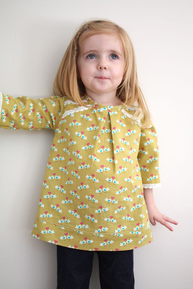 Toddler blouse tutorial.  Her website also has some other interesting sewing tutorials, among other things.  Worth checking out!