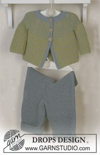 DROPS Jacket, trousers, soft toy and blanket in Alpaca ~ DROPS Design