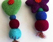 Handmade felt colorful brooches