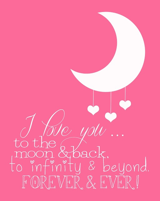 "Except for us I'd change it to ""I love you to the edge of the universe and back. I love you like pi. Forever and after <3"