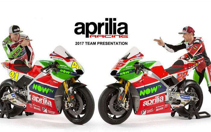 MotoGP - Bemutatták az Aprilia RS-GP17 gépét