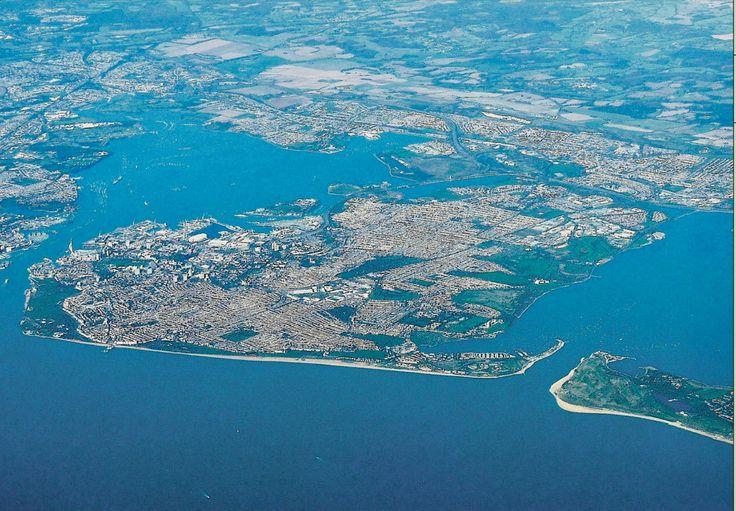 Portsea Island Showing Both Portsmouth Harbor And Langston
