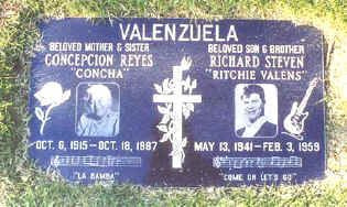 Grave site at San Fernando Mission Cemetery, Mission Hills, California