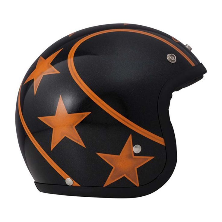 DMD Vintage Helmet - Stunt Orange | Open Face Motorcycle Helmets | FREE UK delivery - The Cafe Racer