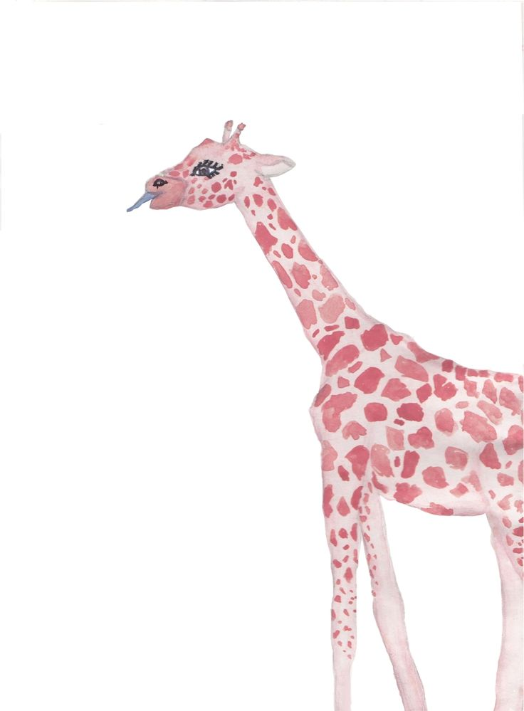 Pink Giraffe | print via Glitter Regn. Click on the image to see more!