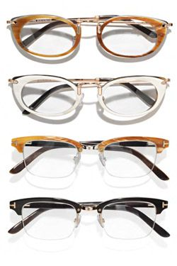 Tom Ford gold and water buffalo horn glasses. Just $2950 per pair!