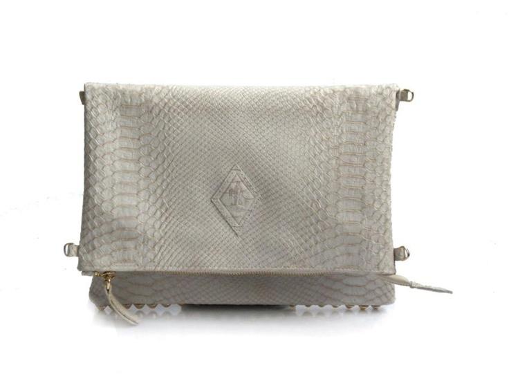 Studded Bag White Phyton