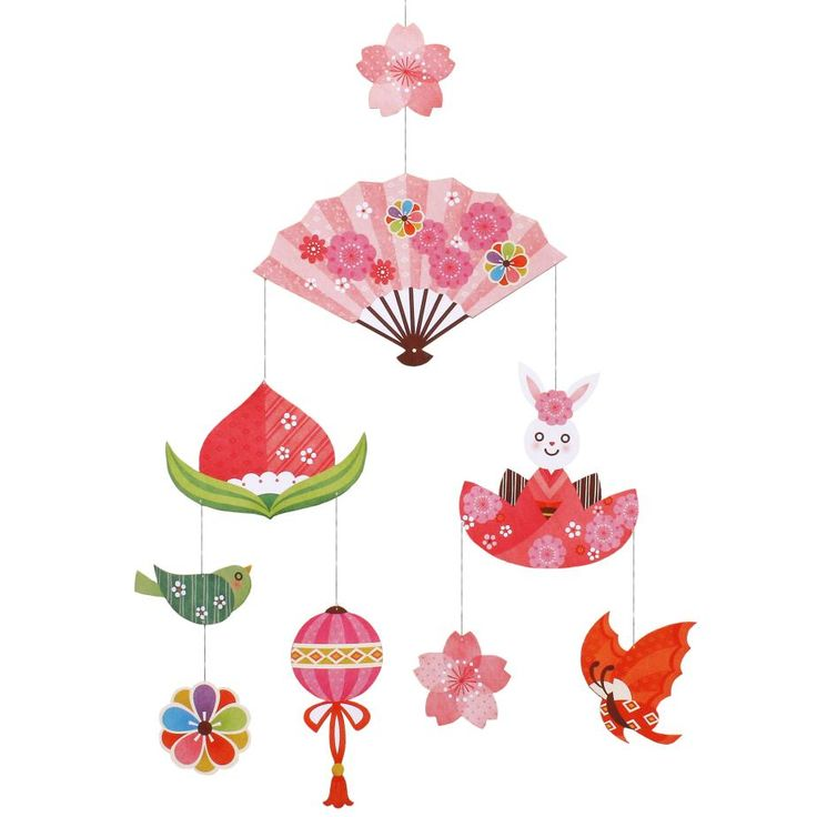 可愛らしい桃の節句のモビール✨簡単無料ダウンロードで出来ちゃいます!╰(*´︶`*)╯是非作ってみてくださいね〜!✨  #ペーパークラフト #人形 #桃の節句 #ひな祭り#ハンギングデコレーション #縁起物 #女の子 #飾り #節句