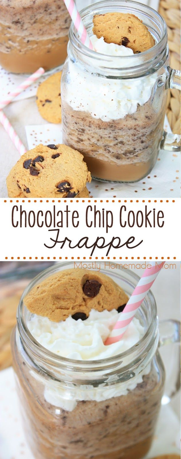 Chocolate Chip Cookie Frappe - coffee, ice, chocolate creamer, chocolate chips, and whipped cream on top - yum!! #FrappeYourWay #ad