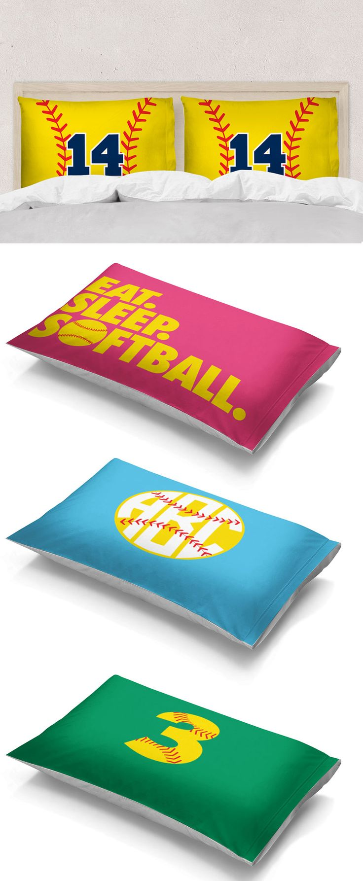 We don't know a softball player that wouldn't love a softball pillowcase on their bed! With personalized and custom options with dozens of color combinations to choose from, we know you'll find the perfect fit for their personal style.
