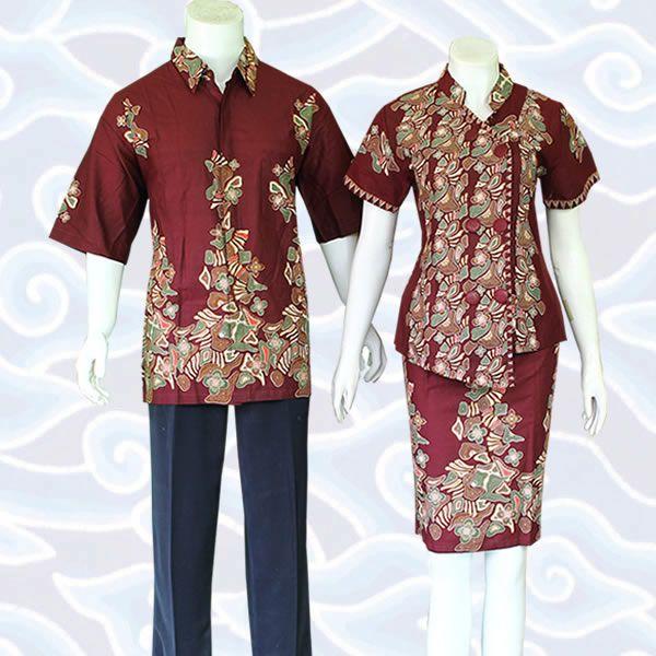Batik Sarimbit Couple Berupa Pasangan Antara Baju Setelan Wanita