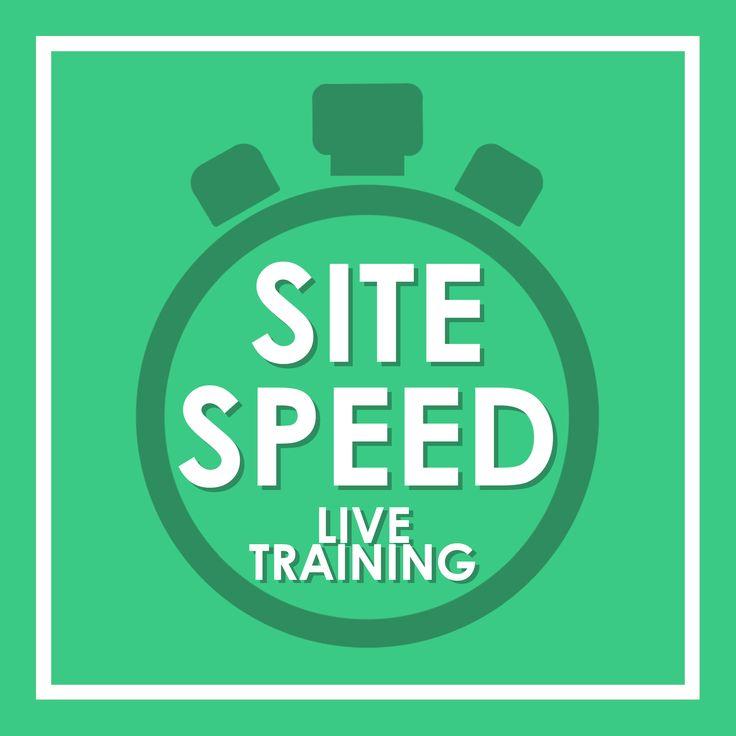 Site running sloooooooooower than a snail? FIX IT! Live training on SITE SPEED - 10am AEDT 7th April '17