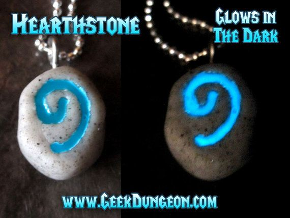 Hearthstone World of Warcraft WoW inspired glow in the dark gamer necklace $18.00+$3.00 shipping