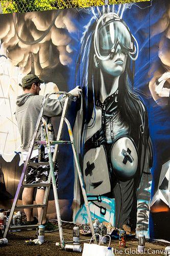 Gnasher at Upfest '13 in Bristol  Graffiti   StreetArt   UK   England