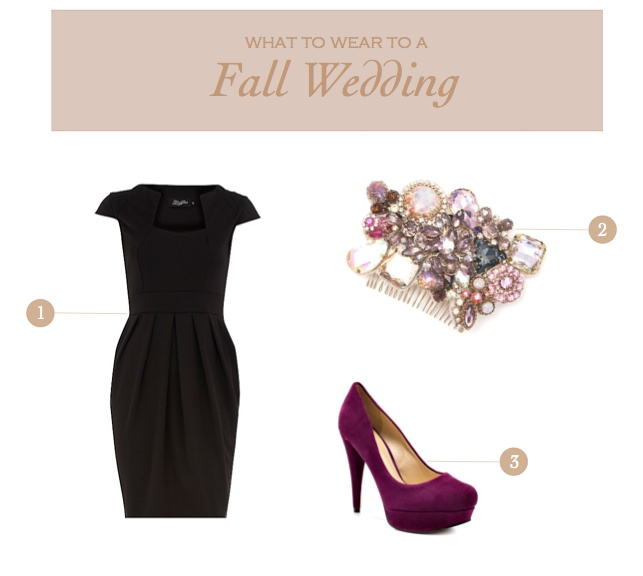 What to wear to a fall wedding! via Adorii (oh i already have some cute purple shoes!!)