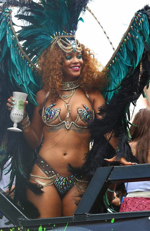 Rihanna partying in #Barbados at the 2015 Crop Over festival.