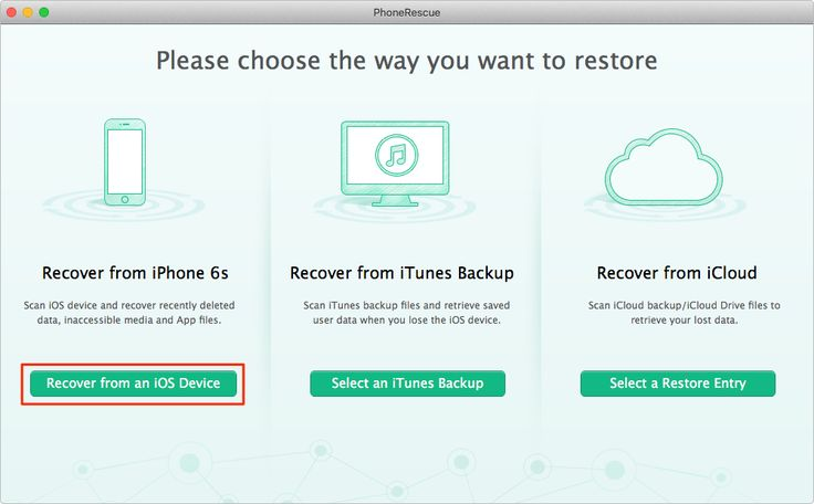 How to Recover Deleted Photos from iPhone – Step 1