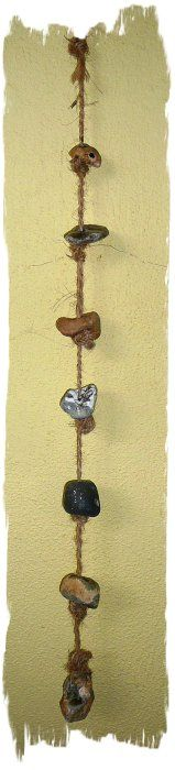"""Hag-stone Charm  """"Seven Hag-stones on a Seven Knotted String"""" Powers - protection and good fortune for loved ones"""