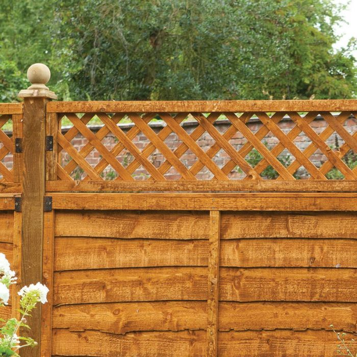 Forest 6 X 1 Diamond Lattice Trellis Fence Topper 1 83m X 0 3m Trellis Fence Fence Toppers Lattice Fence