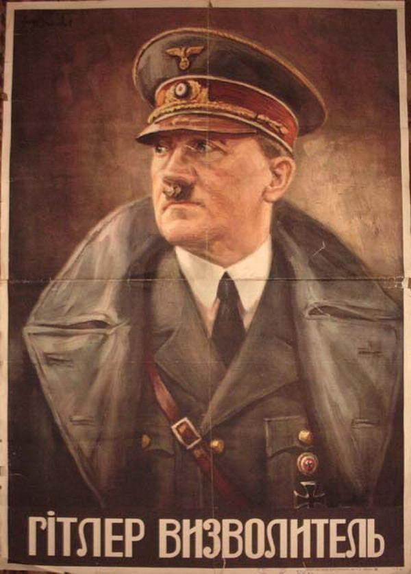 Оригинал взят у gfk в Ох посодют меня за экстремизьм. . . ну тогда начну с маленькой картинки, а продолжу под катом. . . такие вот плакаты времён оккупации Украины…