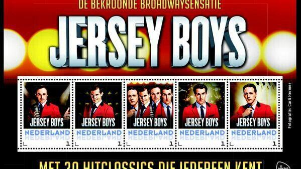 Postzegels van de nederlandse jersey boys.