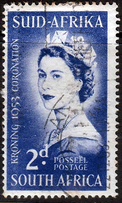 South Africa 1953 Queen Elizabeth Coronation Fine Used    SG 143 Scott 192    Condition  Fine UsedOnly one post charge applied on multipule purchases