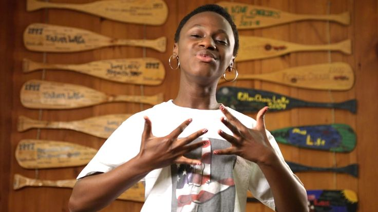 "Published on Aug 13, 2014 This video is an ASL interpretation of Pharrell Williams's ""Happy."" An expression of music in ASL composed by Rosa Lee Timm and Azora Telford. The video was produced by a team of Deaf campers & staff from Deaf Film Camp 2014 at Camp Mark Seven."