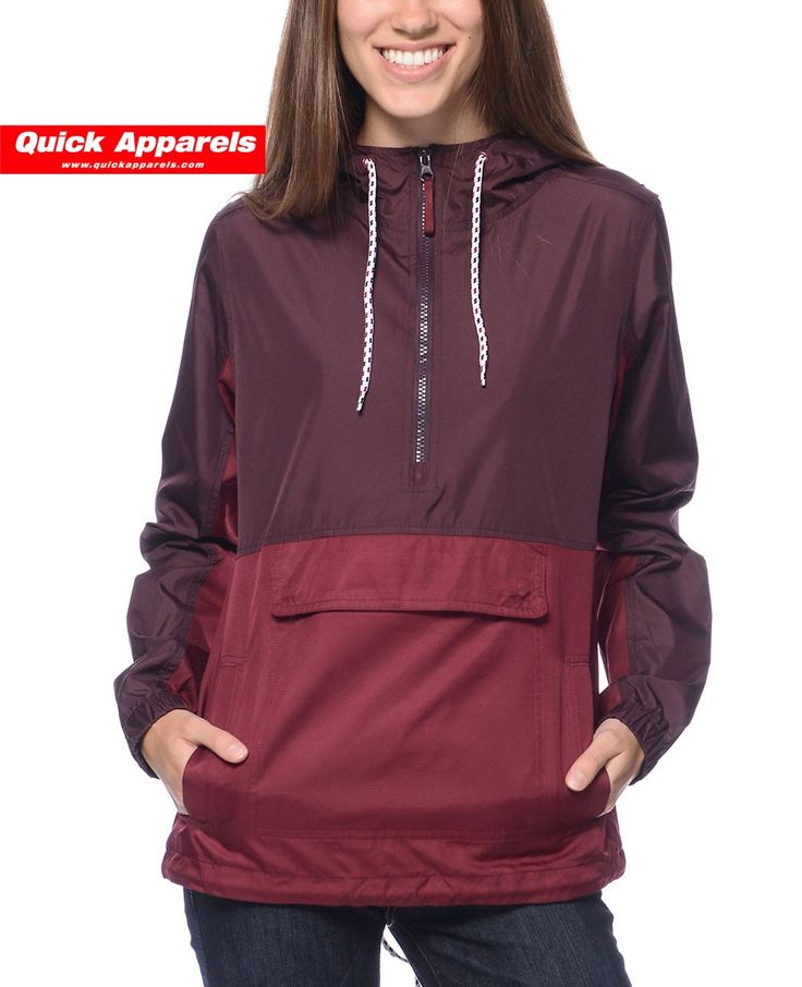 http://www.quickapparels.com/new-look-women-burgundy-mesh-lined-pullover-jacket.html