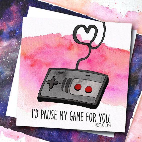 Funny Girlfriend Card Video Game Love Birthday by phillyandbrit