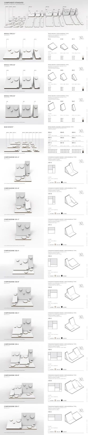 01.13 - Cardboard Exhibition System fro Bijoux - Details Design by Valerio Campisi
