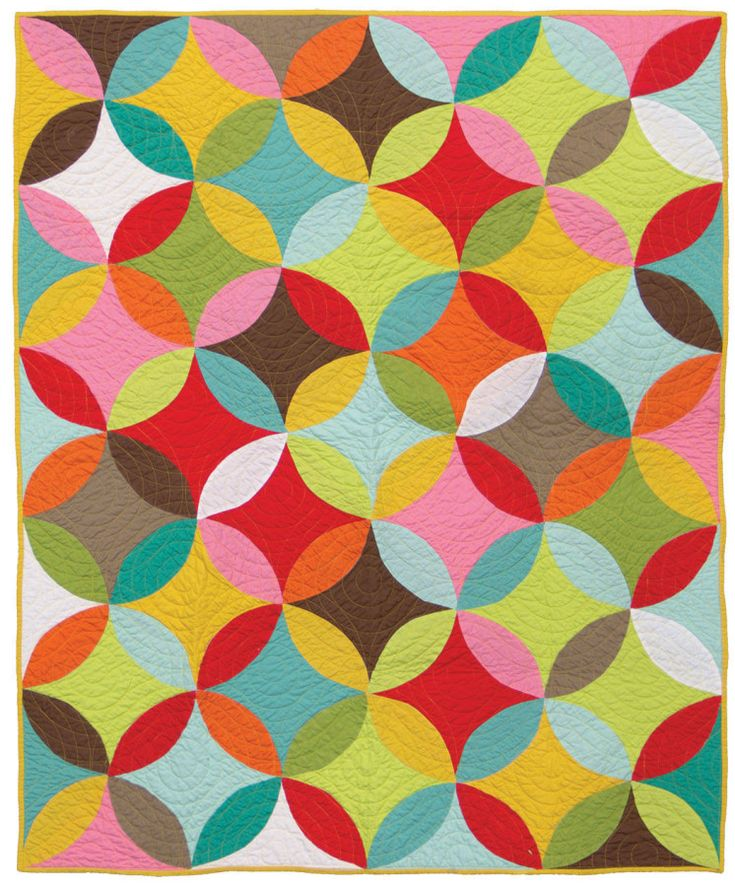 Melon Quilt from Moda, made with a Bella Solids 12 Pack Quilt Pattern is called Melons