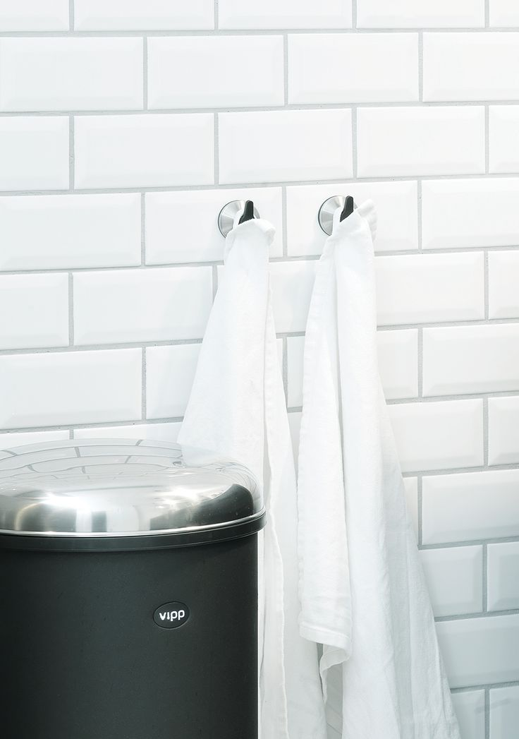 Vipp Pedal Bin And Suction Hooks.