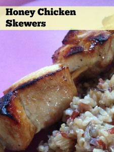 Honey Chicken Skewers - 21 day fix friendly