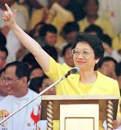 Corazon Aquino.  She was the first woman President of the Philippines and the first woman to hold the office of President of any country in Asia.