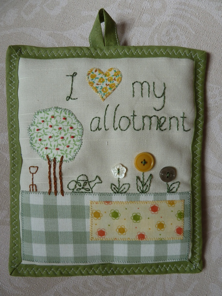 Allotment Garden Embroidered Picture from Sew Crafty Lou on Etsy