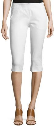 Donna Karan Mid-Rise Capri Pants, White - Shop for women's Pants - WHITE Pants