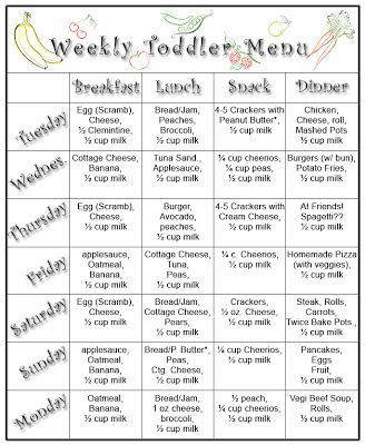 Here It Is This Weeks Complete Menu For My 13 Month Old I Was Amazed At How Much Relied On Past Every Meal