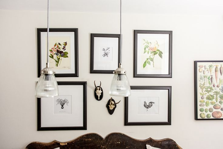 Botanical prints gallery wall in the dining room | 3 Bed Renovated Hertfordshire Victorian Terrace