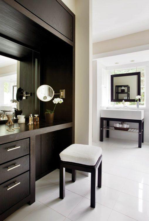 Built in Makeup Vanity Ideas   Furniture: Photos Hgtv Modern Built