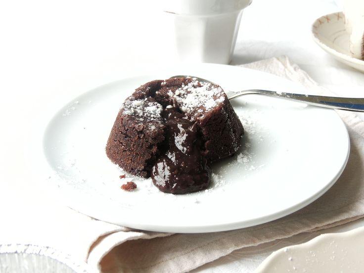 Tortino con cuore caldo al cioccolato | VEGAN