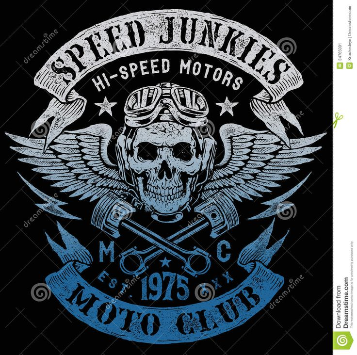 Projeto Do Vintage Da Motocicleta Dos Toxicômanos Da Velocidade Imagem de Stock…