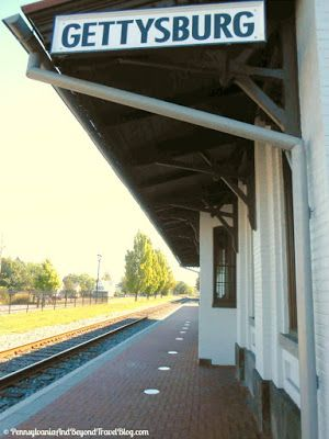 The Historic Gettysburg Railroad Station in Gettysburg Pennsylvania - President Lincoln arrived here the night before the famous Gettysburg Address.