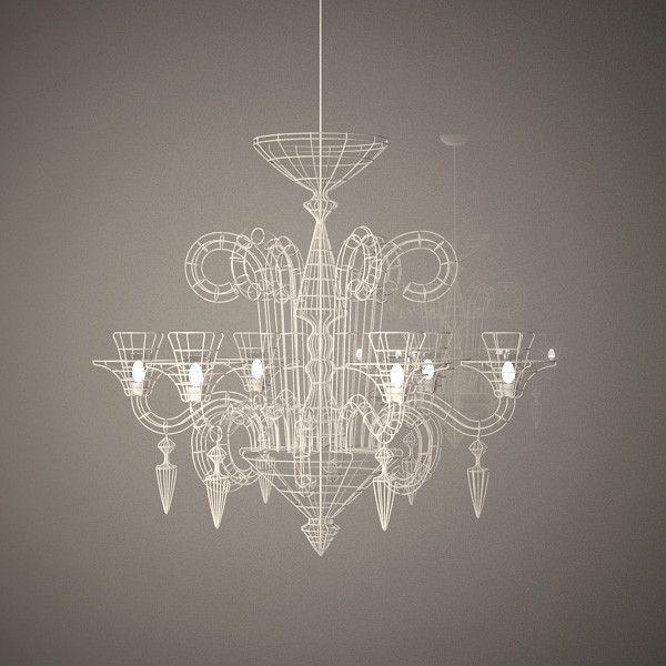 3d max wire chandelier atelier abigail - Wire Chandelier from Atelier Abigail Ahern... by szatarzyna