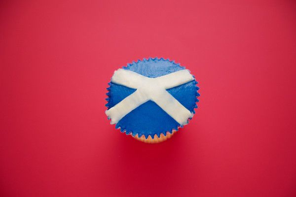 St Andrew's Day Cupcake