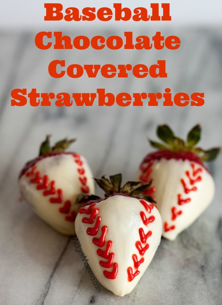 with these Baseball Chocolate Covered Strawberries. Great for sports ...