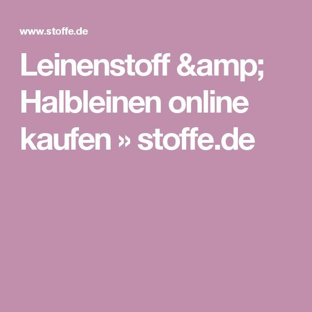 Leinenstoff & Halbleinen online kaufen » stoffe.de