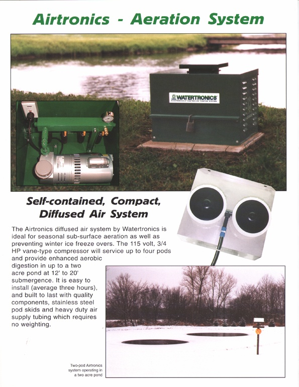 Watertronics Airtronics sell sheet front
